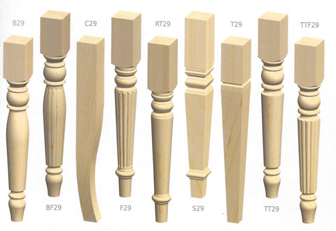 Cardinal Table Legs Examples