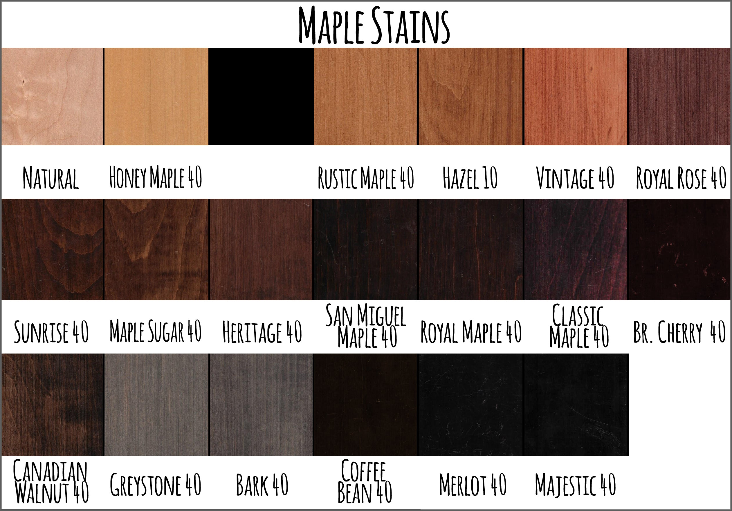 Maple Stains