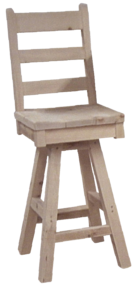 Rustic Ladder Back Bar Stool