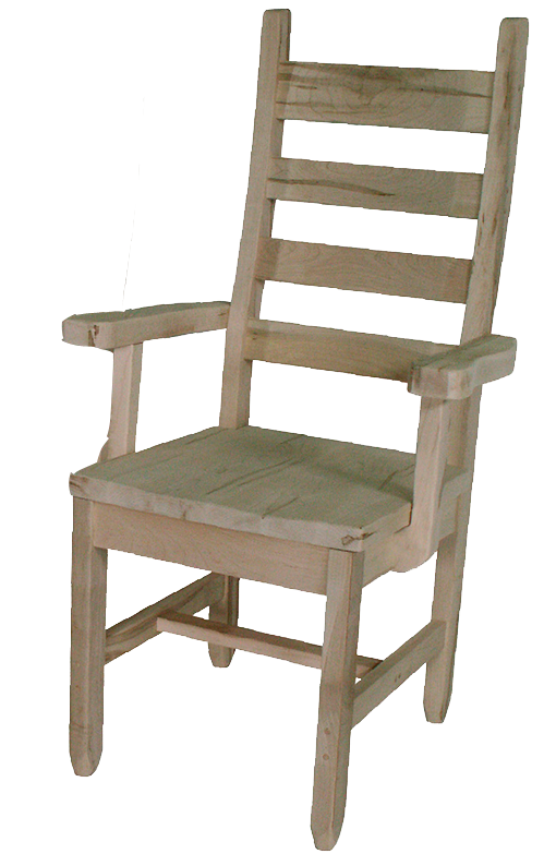 Rustic Ladder Back Arm Chair