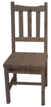 Rustic Slat Back Side Chair