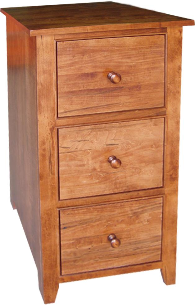 A Series 3 Drawer Filing Cabinet in Brown Maple