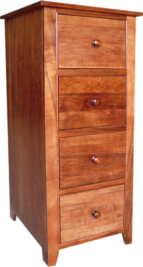 A Series 4 Drawer Filing cabinet in Brown Maple