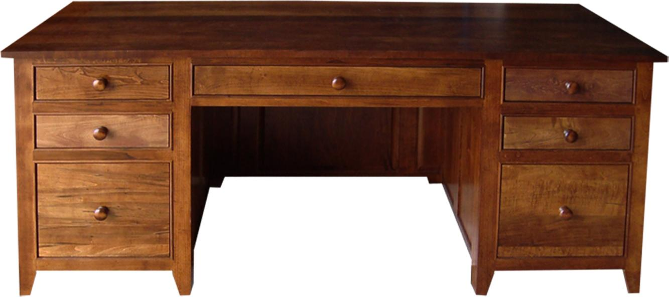 "A Series 72"" Office Desk in Brown Maple"
