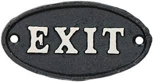 Exit Door Plaque