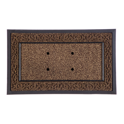Switch Mat Frame Brown Scroll