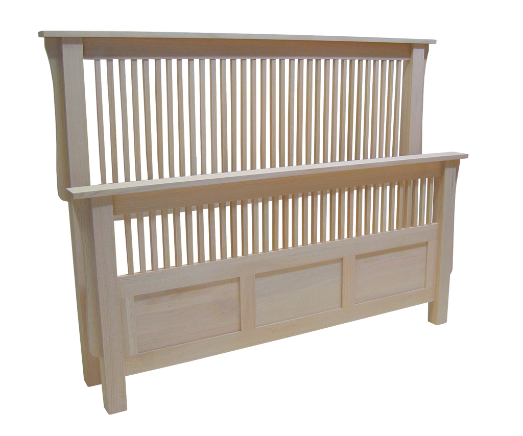 Mission Bed with Split Footboard
