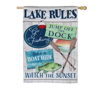 Garden Flag - Lake Rules