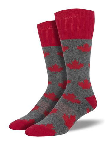 Socks Mens Cdn Maple charcoal