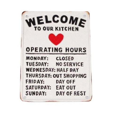 Welcome to our Kitchen Plaque