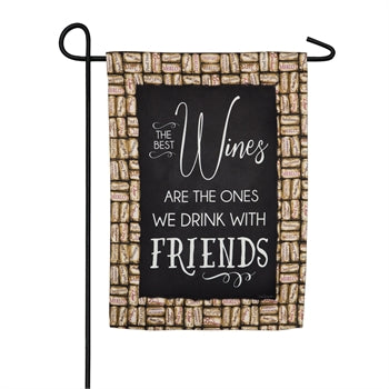 Garden Flag - Wine with friends
