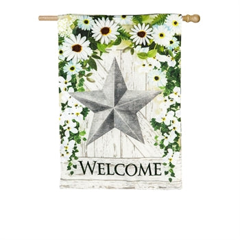 Garden Flag Large - Star Welcome