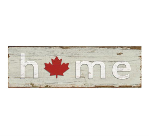 Maple Leaf Home Sign