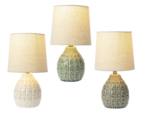 Embossed Lines and Dot Accent Lamp