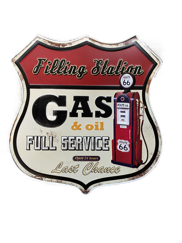 Sign Tin Filling Station