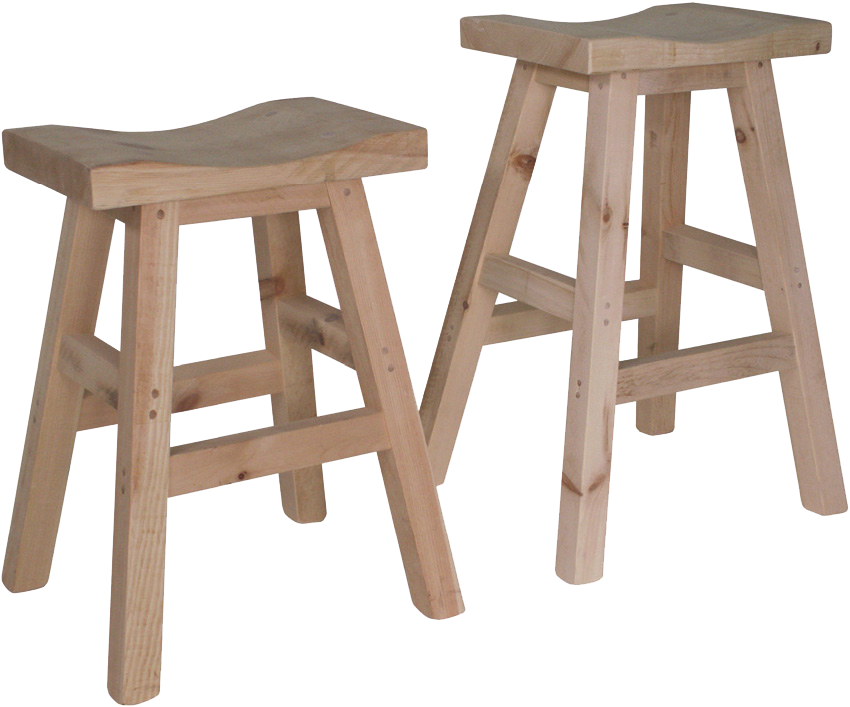 Rustic Saddle Stool