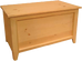 A Series Blanket Box shown in Unfinished Pine