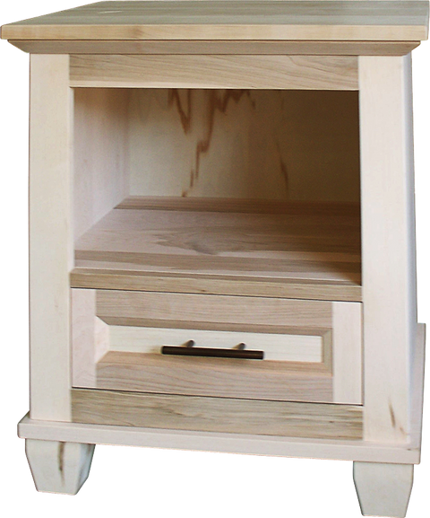 Algonquin Nightstand in Unfinished Maple