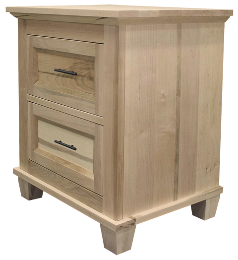 Algonquin 2 Drawer Nightstand in Unfinished Brown Maple