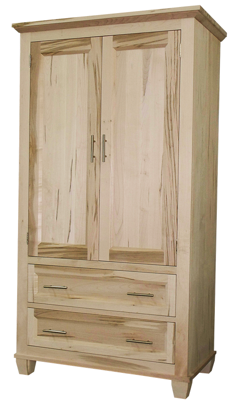 Algonquin Armoire Unfinished in Brown Maple