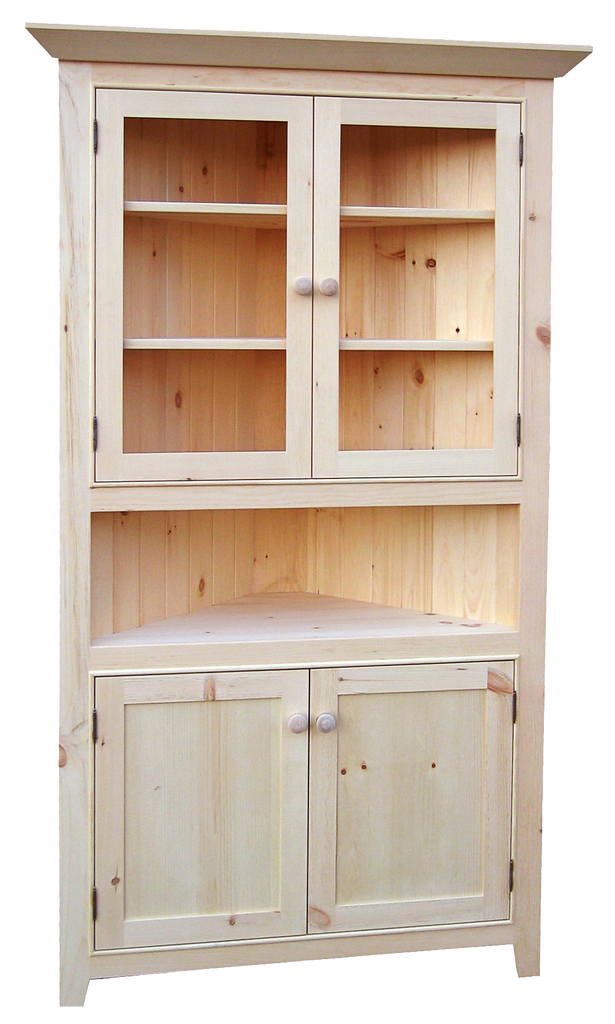 "Legacy 40"" Corner Cabinet with Beading"