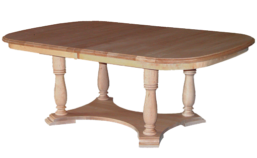 Alexander Table Unfinished Brown Maple