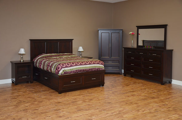 Algonquin Condo bed suite in finished brown maple
