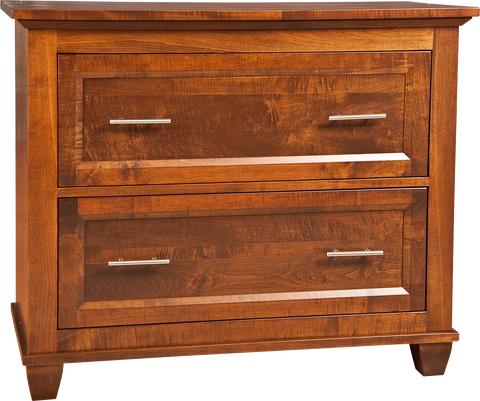 Algonquin 2 Drawer Filing cabinet Finished in Brown maple
