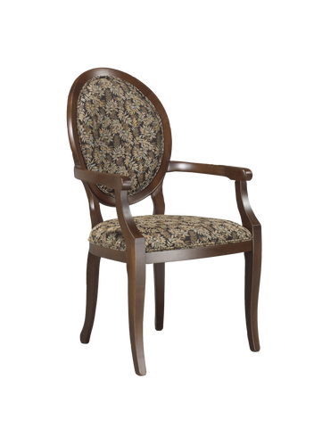Augusta Fabric Seat and Back (Augu-AC-fab) in finished maple