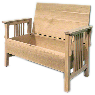 Mission Storage Bench