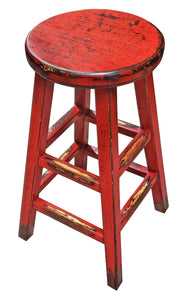 Kovu Round Stool - Red