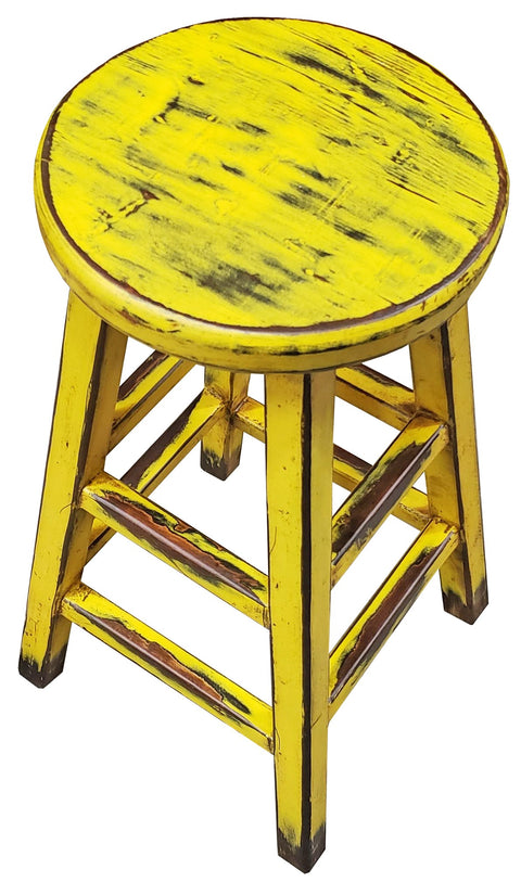 Kovu Round Stool - Yellow