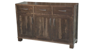 Backwoods Sideboard in finished rustic wormy maple