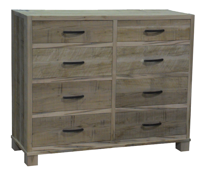 Backwoods 8 drawer dresser in unfinished rustic wormy Maple