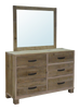 6 Drawer Dresser with Landscape Mirror (BWMIR)
