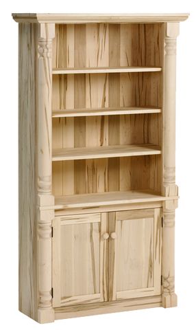 Bevel Top Bookcase with Doors