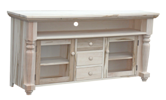Rustic Bevel Top Entertainment Unit