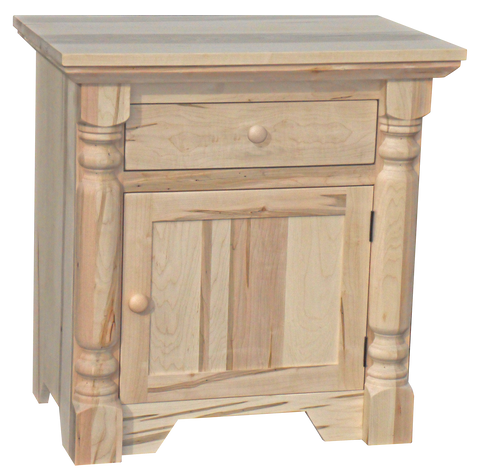Bevel Top 1 Door 1 Drawer Nightstand
