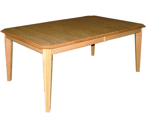 Blue Mountain Cardinal Centre Extension Dining Table Harvest Table