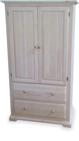 Carolina 2 Drawer 2 Door Armoire