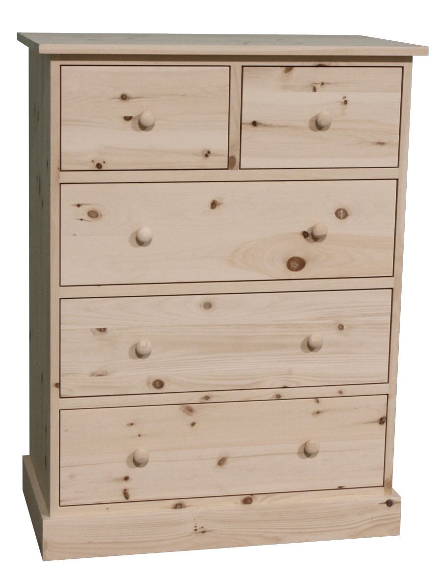 Cottage 5 Drawer Hiboy Chest