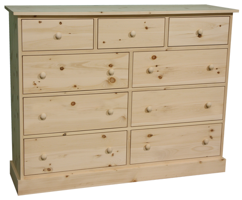 Cottage 9 Drawer Dresser