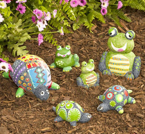 Paint-Your-Own Rock Pets: Turtles and Frogs