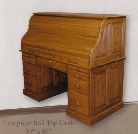 Burkwood Computer Roll Top Desk