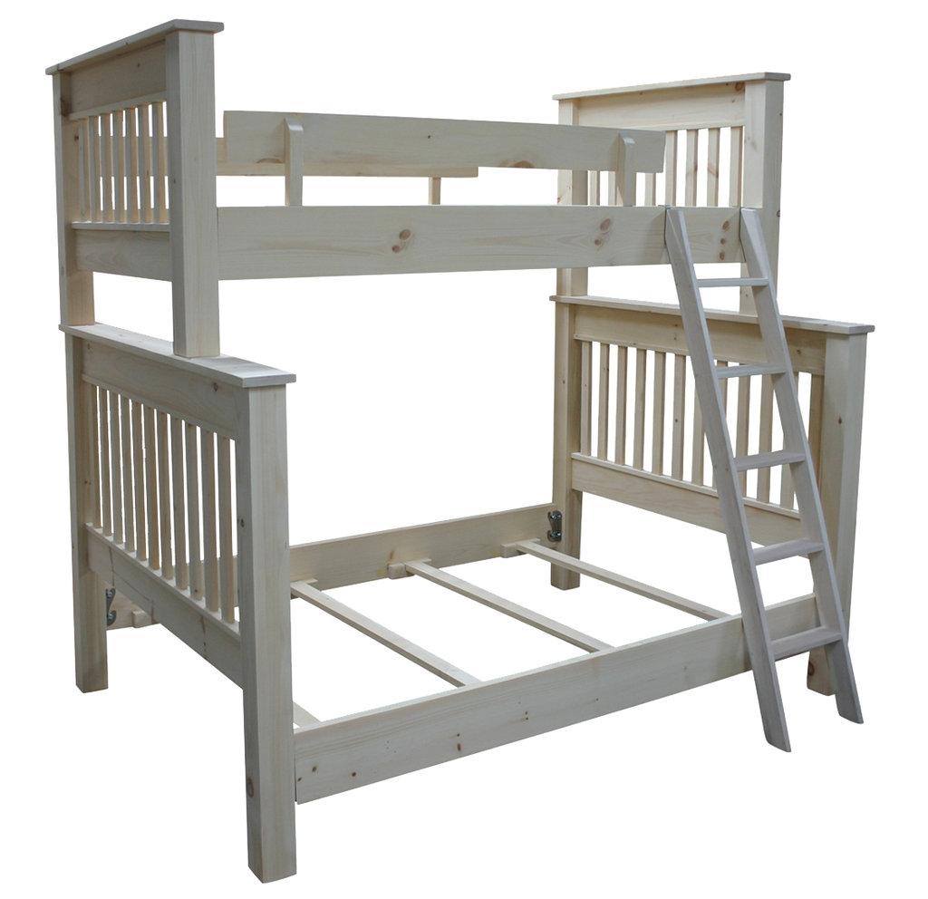 Cottage Slat Bunk Bed - Single Over Double (54SLBunk)