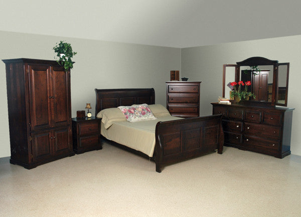 F4 Series Sleigh Bed Set