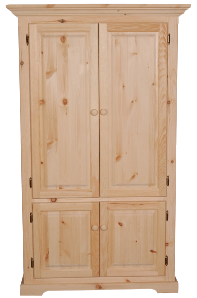 F4 Crown Top 4 Door Armoire
