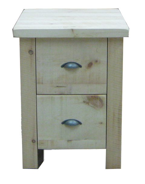 Frontier 2 Drawer Nightstand