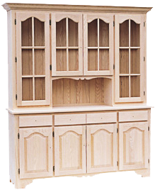 Legacy 4 Door Buffet with Hutch (Various Sizes)