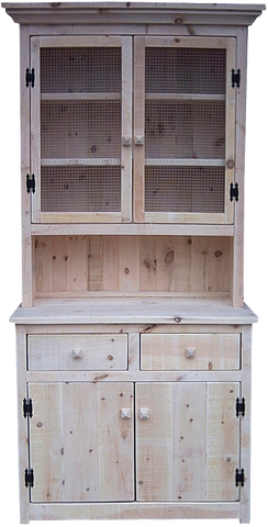 Rustic Cabinet Buffet with Hutch
